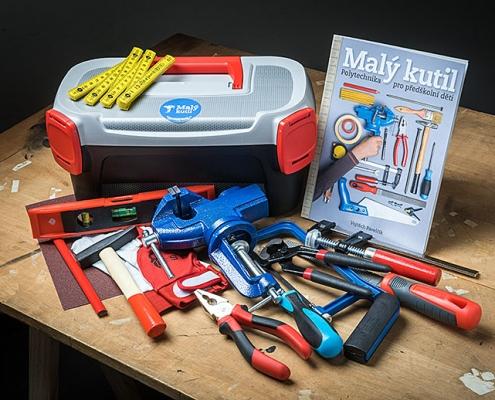 skutečné funkční dětské nářadí - kufřík Malý kutil / polytechnika pro předškolní děti